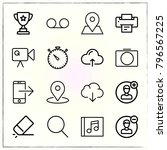 web interface line icons set... | Shutterstock .eps vector #796567225