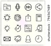 web interface line icons set... | Shutterstock .eps vector #796567489
