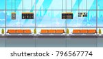 waiting hall or departure... | Shutterstock .eps vector #796567774