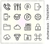 web interface line icons set... | Shutterstock .eps vector #796569049