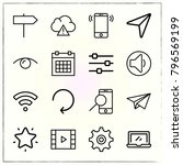 web interface line icons set... | Shutterstock .eps vector #796569199