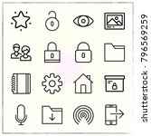 web interface line icons set... | Shutterstock .eps vector #796569259