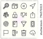 web interface line icons set... | Shutterstock .eps vector #796570315