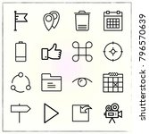 web interface line icons set... | Shutterstock .eps vector #796570639