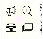 web interface line icons set... | Shutterstock .eps vector #796578391