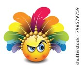 cute curious emoticon isolated... | Shutterstock .eps vector #796579759