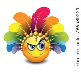 cute curious emoticon isolated... | Shutterstock .eps vector #796580221