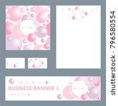corporate identity template for ... | Shutterstock .eps vector #796580554