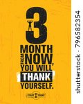 3 month from now  you will... | Shutterstock .eps vector #796582354