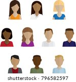 headshots vector illustration | Shutterstock .eps vector #796582597