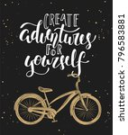 vector card with hand drawn... | Shutterstock .eps vector #796583881