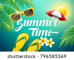 summer time concept illustration | Shutterstock .eps vector #796585369