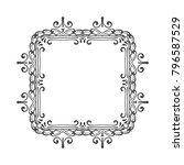 vintage frame or border on... | Shutterstock .eps vector #796587529