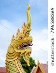 thailand architecture gold... | Shutterstock . vector #796588369