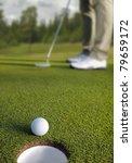Golfer Putting  Selective Focu...