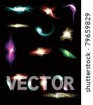 glowing light effect sparkling... | Shutterstock .eps vector #79659829