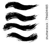 grunge ink brush strokes set.... | Shutterstock .eps vector #796604485