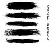 grunge ink brush strokes set.... | Shutterstock .eps vector #796605601