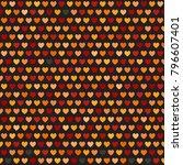 heart pattern. seamless vector... | Shutterstock .eps vector #796607401
