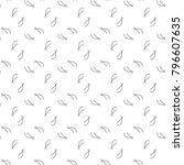 seamless vector pattern in... | Shutterstock .eps vector #796607635