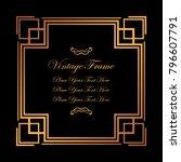 vintage decorative golden frame.... | Shutterstock .eps vector #796607791