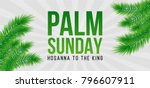 palm sunday holiday card ... | Shutterstock .eps vector #796607911