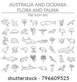 flat australia and oceania... | Shutterstock .eps vector #796609525