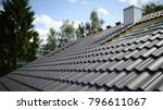 Construction site roofing black ...