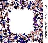 frame of stars. light starry... | Shutterstock .eps vector #796613365