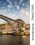 view of oporto of bridge with... | Shutterstock . vector #796617595