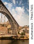 view of oporto of bridge with... | Shutterstock . vector #796617601