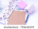 working on process house plan... | Shutterstock . vector #796618195