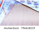working on process house plan... | Shutterstock . vector #796618219