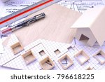 working on process house plan... | Shutterstock . vector #796618225