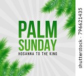 palm sunday holiday card ... | Shutterstock .eps vector #796621435
