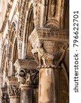 close up of a column capital | Shutterstock . vector #796622701
