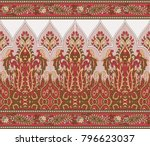 seamless traditional indian... | Shutterstock . vector #796623037