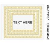golden frame border vector | Shutterstock .eps vector #796623985