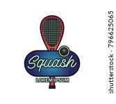 squash logo with text space for ... | Shutterstock .eps vector #796625065