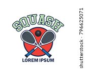 squash logo with text space for ... | Shutterstock .eps vector #796625071