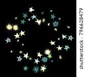 frame of stars. dark starry... | Shutterstock .eps vector #796628479