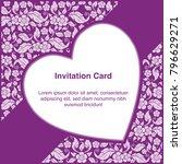 invitation template  background ... | Shutterstock .eps vector #796629271
