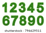 collection of  numbers.  green... | Shutterstock .eps vector #796629511