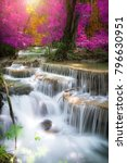 beautiful waterfall at colorful ... | Shutterstock . vector #796630951