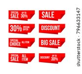 discount label vector template... | Shutterstock .eps vector #796633147