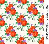 seamless floral regular order...   Shutterstock .eps vector #796636459