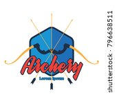 archery logo with text space... | Shutterstock .eps vector #796638511