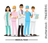 medical team and  staff  vector ... | Shutterstock .eps vector #796638541