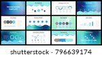 business presentation templates.... | Shutterstock .eps vector #796639174