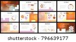 business presentation templates.... | Shutterstock .eps vector #796639177